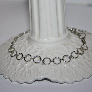 "Stunning silver circle link bracelet 7-10"""